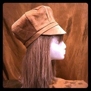 Vintage 1960's tan suede hat
